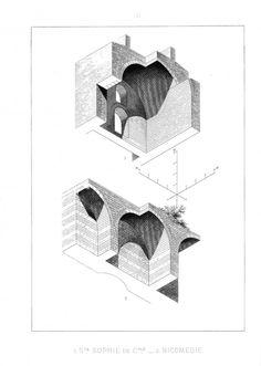 Larchitecture en perspective axonométrique plafonnante par Auguste Choisy auguste choisy architecture illustration 06 655x920