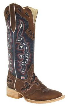 246f510f63 2127 - RockinLeather Womens Tall Distressed Brown Boot With Wide Square Toe