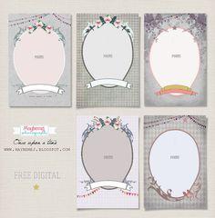 Pretty frames -Digital freebie. Once-upon a-time-badge by maybe*mej, via Flickr