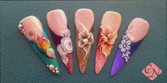 3D #acrylic nail design