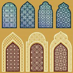 Islamic Art Pattern, Arabic Pattern, Pattern Art, Vector Pattern, Free Pattern, Moroccan Design, Moroccan Decor, Window Design, Door Design