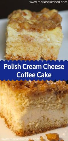 Polish Cream Cheese Coffee Cake Recipe ( Desserts Cakes ) The post Polish Cream Cheese Coffee Cake Recipe ( Desserts Cakes ) appeared first on Win Dessert. Quick Dessert Recipes, Easy Cake Recipes, Easy Polish Recipes, Quick Easy Desserts, Biscuits Aux Raisins, Cream Cheese Coffee Cake, Easy Cream Cheese Desserts, Coffee Cream, Cream Cheese Bars