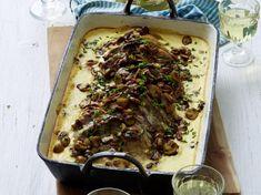 Camembertbraten mit Champignons Rezept