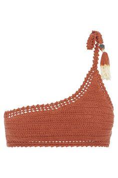 Crochet Art, Cotton Crochet, Hand Crochet, Crochet Patterns, Crochet Bikini Pattern, Crop Top Pattern, Finger Crochet, Crochet Clothes, Diy Clothes