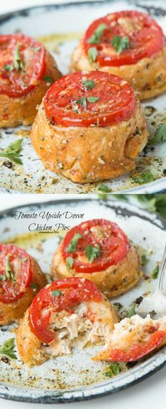 Creamy, cheesy chicken stuffed in a buttery shell with a juicy, marinated tomato and it only takes 30 minutes! ohsweetbasil.com