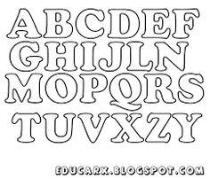 Block Letter Font With Outline  Letter    Block Letter