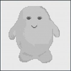 Adipose Doctor Who cross-stitch