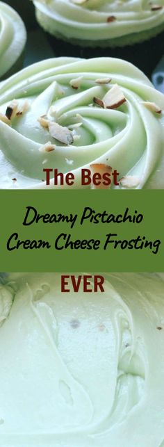 This Recipe is the Best Cream Cheese Frosting EVER. And so easy to make! This Recipe is the Best Cream Cheese Frosting EVER. And so easy to make! Pistachio Frosting Recipe, Frosting Recipes, Cupcake Recipes, Cupcake Cakes, Dessert Recipes, Pistachio Cupcakes, Pistachio Dessert, Pistachio Pudding Cake, Pudding Frosting