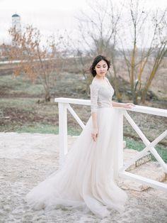 El vestido de boda de tul Olivia sólo un por CarouselFashion