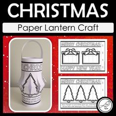 Celebrate the Christmas Season with these paper lanterns. Lots of different options to choose from. Click on the PREVIEW button above to see them all. A 'Happy Holidays' template is also included for your students who don't celebrate Christmas. Bonus Inclusion: Stocking Template, Lantern Craft, Secret Code, Happy Year, School Resources, Christmas Paper, Paper Lanterns, Classroom Activities, Primary School