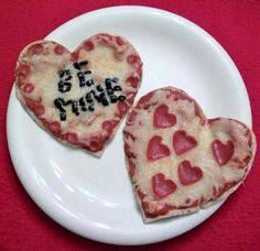 """""""Cute Food For Kids""""  Valentine's Day Pizza"""