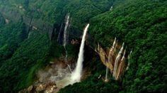 Nohkalikai Falls, Meghalaya- Residing near Cherrapunjee, this is the tallest plunge waterfall in India falling from a height of 340 meters. The serenity of this place can make any soul find peace and rejoice in its beauty. Best Vacation Destinations, Best Vacations, Enjoy Your Vacation, Plunge Pool, India Tour, Tourist Places, Nature Images, Beautiful Places To Visit, So Little Time