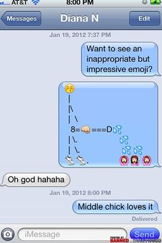 how to send dirty texts with emojis