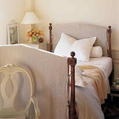 I love the idea of of adding slips to change the look and feel of a wood bed!  #ULinspiration  : @marthastewart