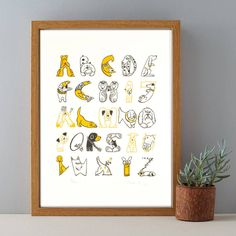 Are you interested in our Dog Breeds Alphabet Print? With our Gift for Dog Lovers you need look no further.