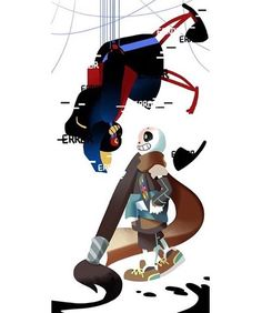 *The CREATOR and the DESTROYER. . art credit: loverofpiggies (Tumblr) au credit: ink!sans belongs to comyet (Tumblr) error!sans belongs to loverofpiggies (Tumblr) link: http://loverofpiggies.tumblr.com/post/139953334760/comyet-lookie-i-finally-drew-the-thing-i-think