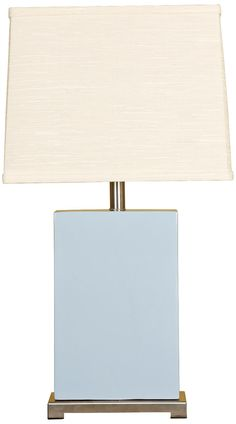 Splash Collection Sky Ceramic Rectangular Table Lamp -