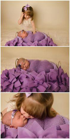 newborn photography | purple | ivory | sibling | sister | jessica barrett photography