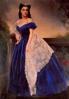 """From the movie """"Gone With the Wind"""", Vivien Leigh as Scarlett O'Hara Butler in the """"Blue Portrait"""" that hung in Rhetts' room in the Peachtree Street House in Atlanta."""