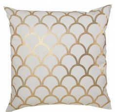 Gold Scallop Pillow: http://shoplemonstripes.com/products/gold-scallop-pillow