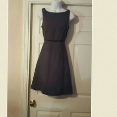 J. Crew sleeveless gray  fit and flare dress Beautiful J. Crew sleeveless fit and flare dress with black attached bow belted waistline J. Crew Dresses