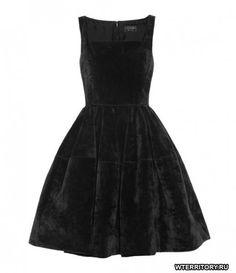 Купить маленькое черное платье бархатное