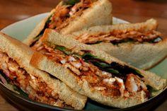 Smörgåssnittar med Tandoorikyckling, perfekta picknickmackor!