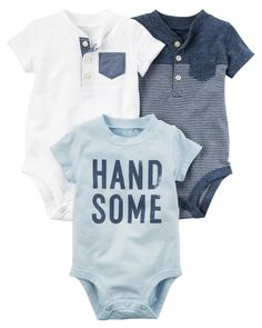Baby Boy 3-Pack Short-Sleeve Original Bodysuits from Carters.com. Shop clothing & accessories from a trusted name in kids, toddlers, and baby clothes.