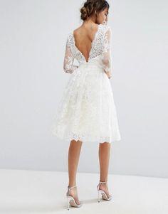 White Lace Midi Dres