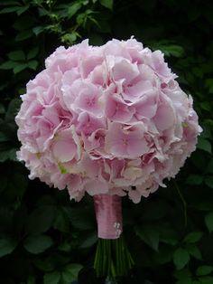 Flower Decor (Nunta): Buchet mireasa hortensie roz