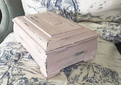 Shabby Chic Jewelry Box Light Pink Distressed Vintage Wooden Jewelry Box Antoinette pink by annie sloan by StudioVintage on Etsy
