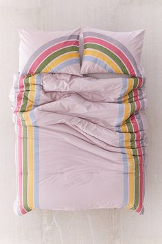 Shop Rainbow Striped Comforter at Urban Outfitters today. We carry all the latest styles, colors and brands for you to choose from right here. Linen Bedding, Bedding Sets, Bed Linen, Neiman Marcus, Urban Outfitters Room, Boho Comforters, Bedspreads, Glitter Room, Rainbow Bedroom