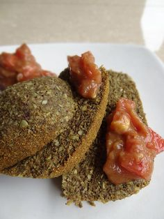 Raw Vegan Dehydrated Indian Spiced Bread with Tomato Chutney Recipe Plus a Giveaway for 2 Free Copies of my Recipe E-Book : Raw Food Made Fun, Easy Beautiful!