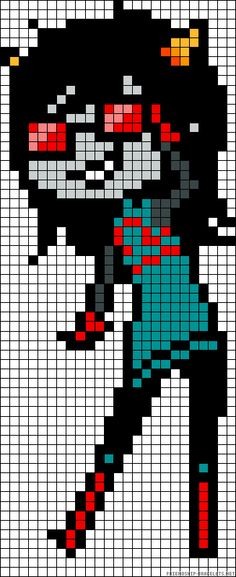 Homestuck Latula Pyrope perler bead pattern To Minecraft we go!!!!
