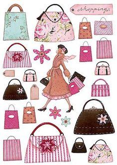 Mis Laminas para Decoupage (pág. 2) | Aprender manualidades es facilisimo.com <tilda handbags