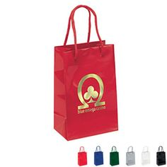 "Gloss Finish Eurotote Gift Bag, 5-1/4"" x 8-1/4"""