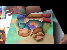 Como pintar un pesebre para navidad paso a paso (parte 10) - YouTube