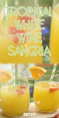 This cocktail is the next best thing to taking a vacation! We saw this amazing recipe over at Lemon Tree Dwelling and just couldn't resist. Tropical White Wine Sangria is refreshing, delicious, fruity and just what you need to cool down on those hot summer days. It's guaranteed to be your new favorite sangria!