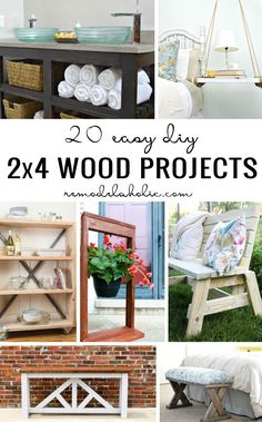 20 Easy DIY 2×4 Wood Projects   Remodelaholic   Bloglovin'