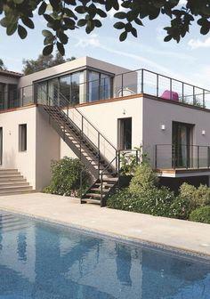 deux maisons imbriques pour nen faire quune au cap dantibes - Maison Moderne Antibes