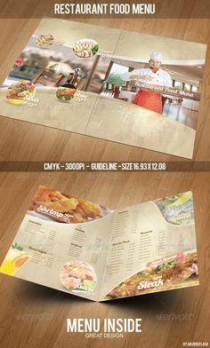 Restaurant Food Menu Template - Food Menus Print Templates