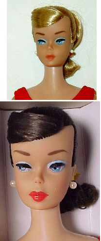 Barbie Swirl Ponytail Dolls are named for the side sweep (or swirl) hairstyle, which replaced Barbie's bangs in 1964.