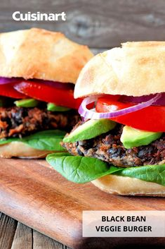 If you love grilling up burgers, such as our Black Bean #VeggieBurger, you'll be needing our Griddler FIVE during these colder months! You can use the contact grill to make your favorite veggie or meat patties, turn it into a panini press for a quick lunch, or whip up pancakes with the griddle plates. #holidaygifting #foodlover #foodie #cuisinart #savorthegoodlife #kitchenmusthave #indoorgrilling Black Bean Veggie Burger, Bean Burger, Veggie Burgers, Vegetarian Menu, Vegetarian Options, Cuisinart Food Processor, Food Processor Recipes, Griddle Recipes, Vegan Grilling