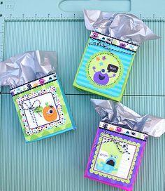 Make gift bags from envelopes