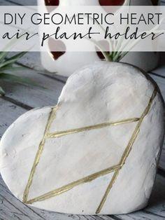 DIY Geometric Heart Air Plant Holder