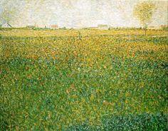 The Athenaeum - Alfalfa Fields, Saint-Denis (Georges Seurat - )