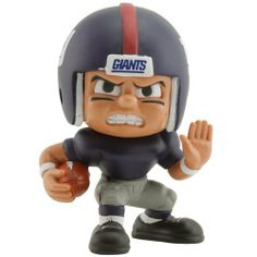 """New York Giants Lil' Teammates Running Back Figurine by Football Fanatics. $9.95. Imported. Officially licensed NFL product. Approximately 3"""" tall. Warning: Choking hazard. For ages 4 and up. Get your hands on the whole set of Lil' Teammates, so you can decorate your home, office or fan cave in NY spirit! This running back figurine is decked out in your favorite team's uniforms and features a rotating head so you can add even more character and attitude to your Gian..."""