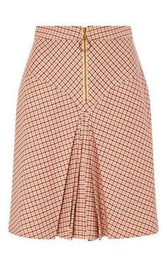 Bordeaux Pleated Checked Yoke Skirt by MANOUSH for Preorder on Moda Operandi Source by African Fashion Skirts, African Print Fashion, African Print Skirt, African Dress, Skirt Outfits, Dress Skirt, Jupe Short, Cute Skirts, Classy Dress