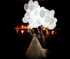 Dreamhigh 50 leuchtende Luftballons - schöne Ballons für die Party, Geburtstag, Hochzeit, Festival(Weiß: Amazon.de: Küche & Haushalt