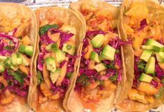 Cauliflower Diablo Tacos with Mango Slaw from my new favorite food blog /It's hard to overlook cauliflower's recent rise to food fame. It seems like everyone is going bananas for this cruciferous, that until now has endured a long reputation as a pretty boring vegetable...